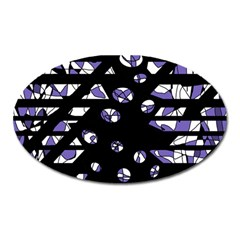 Purple freedom Oval Magnet