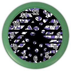 Purple freedom Color Wall Clocks