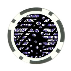 Purple freedom Poker Chip Card Guards