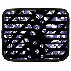 Purple freedom Netbook Case (Large)