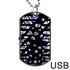 Purple freedom Dog Tag USB Flash (One Side)