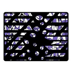 Purple freedom Double Sided Fleece Blanket (Small)