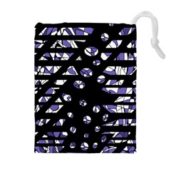 Purple freedom Drawstring Pouches (Extra Large)