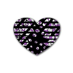Violet freedom Rubber Coaster (Heart)