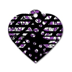 Violet freedom Dog Tag Heart (One Side)