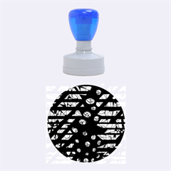 Violet freedom Rubber Round Stamps (Medium)