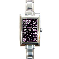 Magenta freedom Rectangle Italian Charm Watch