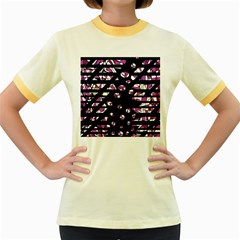 Magenta freedom Women s Fitted Ringer T-Shirts