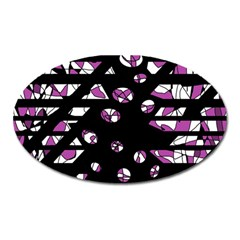 Magenta freedom Oval Magnet
