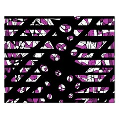Magenta freedom Rectangular Jigsaw Puzzl