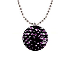 Magenta freedom Button Necklaces