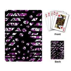Magenta freedom Playing Card