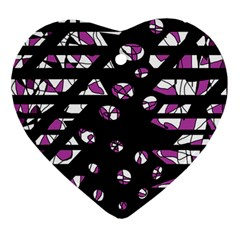 Magenta freedom Heart Ornament (2 Sides)