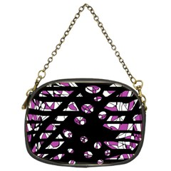 Magenta freedom Chain Purses (Two Sides)