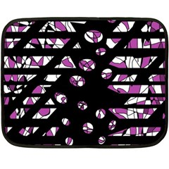 Magenta freedom Double Sided Fleece Blanket (Mini)