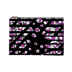 Magenta freedom Cosmetic Bag (Large)