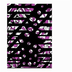 Magenta freedom Small Garden Flag (Two Sides)
