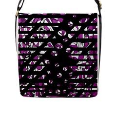Magenta freedom Flap Messenger Bag (L)