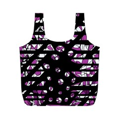 Magenta freedom Full Print Recycle Bags (M)