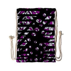 Magenta freedom Drawstring Bag (Small)