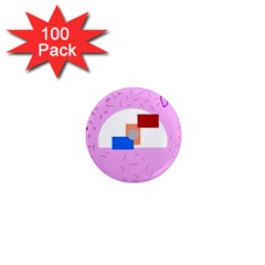 Decorative abstract circle 1  Mini Magnets (100 pack)