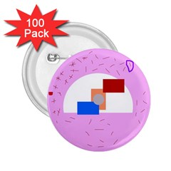 Decorative abstract circle 2.25  Buttons (100 pack)