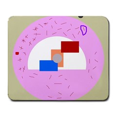 Decorative abstract circle Large Mousepads