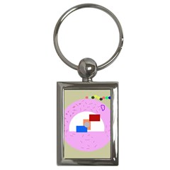 Decorative abstract circle Key Chains (Rectangle)