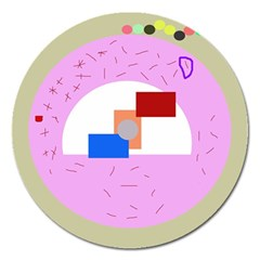 Decorative abstract circle Magnet 5  (Round)
