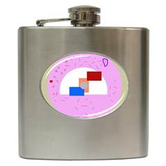 Decorative abstract circle Hip Flask (6 oz)