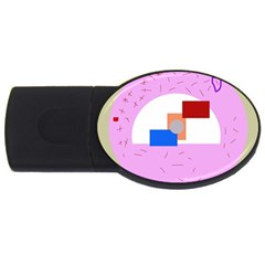 Decorative abstract circle USB Flash Drive Oval (2 GB)