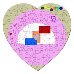 Decorative abstract circle Jigsaw Puzzle (Heart)