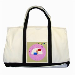 Decorative abstract circle Two Tone Tote Bag