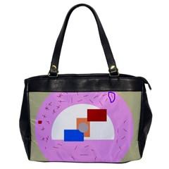 Decorative abstract circle Office Handbags