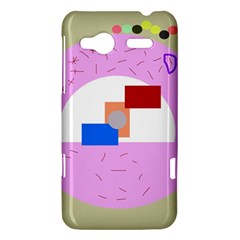 Decorative abstract circle HTC Radar Hardshell Case