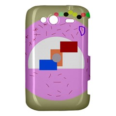 Decorative abstract circle HTC Wildfire S A510e Hardshell Case