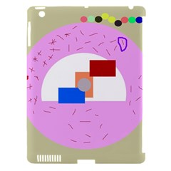 Decorative abstract circle Apple iPad 3/4 Hardshell Case (Compatible with Smart Cover)