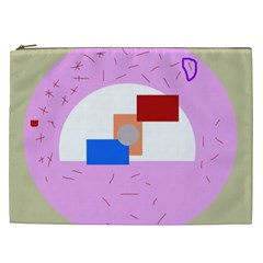 Decorative abstract circle Cosmetic Bag (XXL)