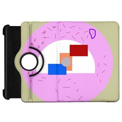 Decorative abstract circle Kindle Fire HD Flip 360 Case