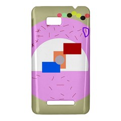 Decorative abstract circle HTC One SU T528W Hardshell Case