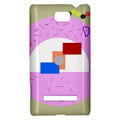 Decorative abstract circle HTC 8S Hardshell Case