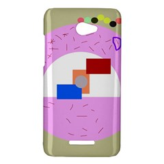 Decorative abstract circle HTC Butterfly X920E Hardshell Case