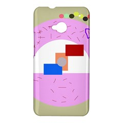 Decorative abstract circle HTC One M7 Hardshell Case