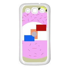 Decorative abstract circle Samsung Galaxy S3 Back Case (White)