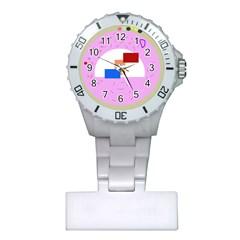 Decorative abstract circle Plastic Nurses Watch