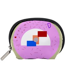Decorative abstract circle Accessory Pouches (Small)