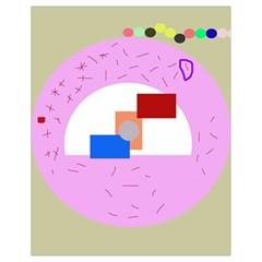 Decorative abstract circle Drawstring Bag (Small)
