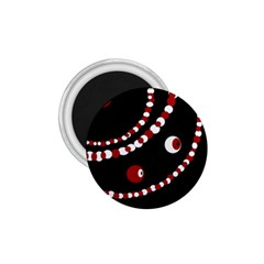 Red pearls 1.75  Magnets