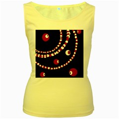 Red pearls Women s Yellow Tank Top