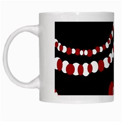 Red pearls White Mugs